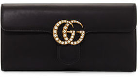 Gucci GG Marmont Pearly Leather Clutch Bag - NUDE - STYLE