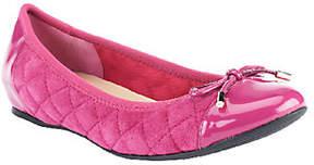 Isaac Mizrahi Live! Quilted Ballet Flats withPatent Trims