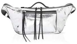 Rag & Bone Large Elliot Metallic Leather Belt Bag