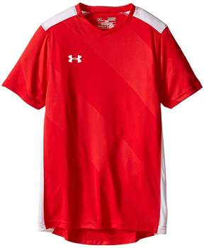 Under Armour Kids UA Fixture Jersey Boy's Short Sleeve Pullover