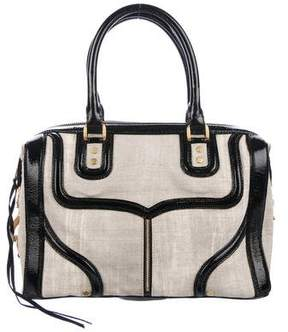 Rebecca Minkoff Patent Leather-Trimmed Satchel