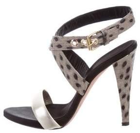 Giambattista Valli Python Ankle Strap Sandals