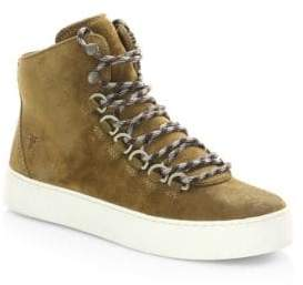 Frye Suede Round Toe Sneakers
