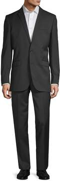 Kenneth Cole Men's Slim-Fit Solid Wool-Blend Stretch Suit