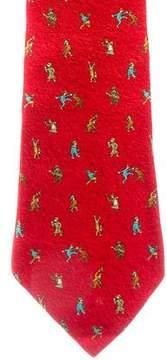 Bvlgari Printed Silk Tie