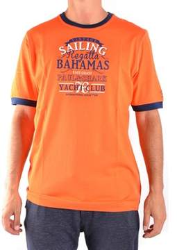 Paul & Shark Men's Orange Cotton T-shirt.