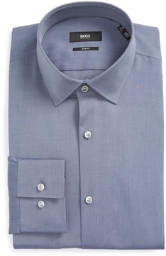 BOSS Men's Jenno Slim Fit Solid Dress Shirt