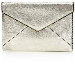 Rebecca Minkoff Leo Crackle Leather Clutch - CHAMPAGNE MULTI/GOLD - STYLE