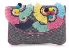 Vince Camuto Witan Canvas Convertible Clutch