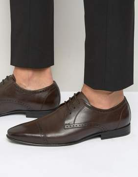 Frank Wright Toe Cap Oxford Shoes in Brown