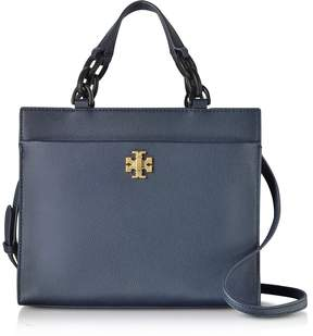 Tory Burch Kira Leather Small Tote Bag - NAVY - STYLE