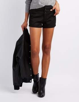 Charlotte Russe Refuge Hi-Waist Shortie Shorts
