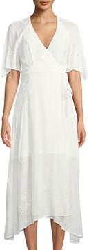 Astr Gretchen Eyelet-Lace Midi Dress