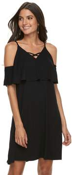 Apt. 9 Women's Strappy Cold-Shoulder A-Line Dress