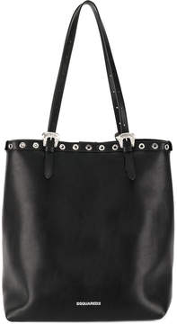DSQUARED2 snap button trim tote bag
