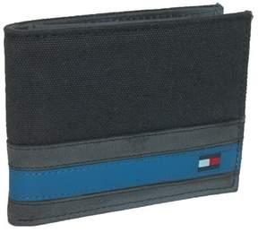Tommy Hilfiger Men's Leather Exeter Passcase Billfold Wallet, Black