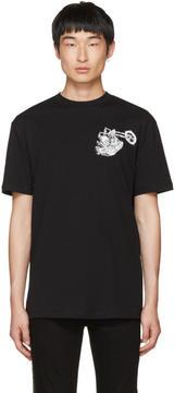 McQ Black Dropped Shoulder Graveyard Bunny T-Shirt