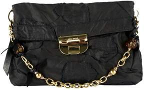 Nina Ricci Black Cloth Clutch Bag