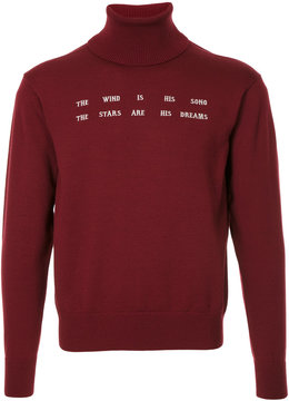 Facetasm embroidered quote jumper