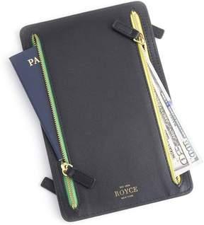 Royce Leather Royce Black RFID Blocking Four Zip Travel Case