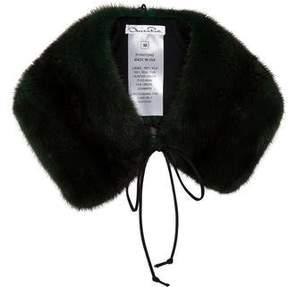 Oscar de la Renta Mink Fur Collar w/ Tags