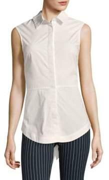 Derek Lam 10 Crosby Poplin Cotton Button-Down Shirt