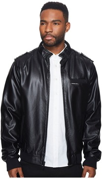 Members Only Faux Leather Iconic Racer Jacket Men's Coat