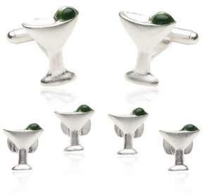Bed Bath & Beyond Martini Formal Set Cufflinks w/Sterling Silver Overlay