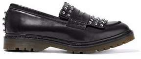 RED Valentino Studded Fringed Leather Loafers