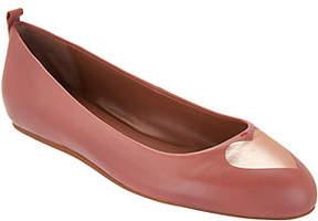 ED Ellen Degeneres Leather Heart Ballet Flats- Lyssa