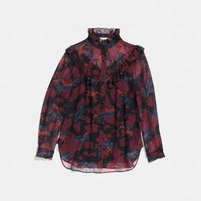 Coach New YorkCoach Horse Print Western Blouse
