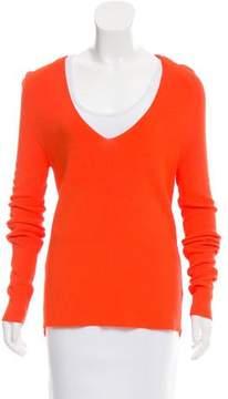 A.L.C. V-Neck Rib Knit Sweater