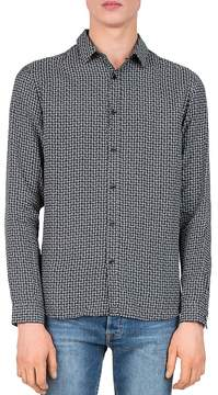 The Kooples Irregular Square Slim Fit Button-Down Shirt