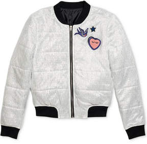 Jessica Simpson Legend Quilted Bomber Jacket, Big Girls (7-16)