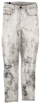 Citizens of Humanity Distressed Mid-Rise Skinny Jeans