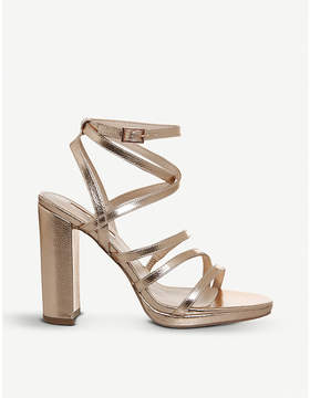Office Harris metallic faux-leather strappy sandals
