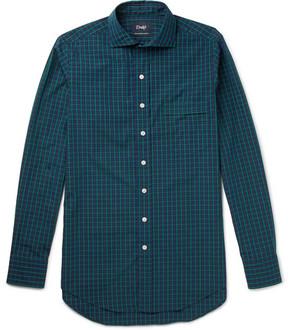 Drakes Drake's Checked Cotton-Poplin Shirt