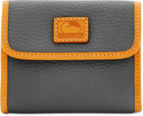 Dooney & Bourke Patterson Small Credit Card Flap Wallet - BLACK - STYLE