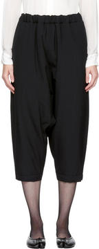 Comme des Garcons Black Wool Padded Cropped Trousers