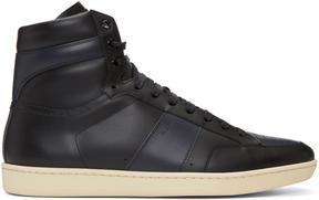 Saint Laurent Black Court Classic SL-10H High-Top Sneakers