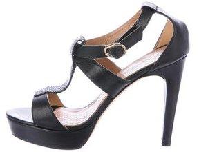 Anya Hindmarch Lizard-Embellished Platform Sandals