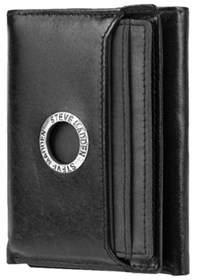 Steve Madden Men's Grommet Glazed Trifold Wallet.