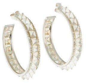 Amrapali Pyramid Spike Hoop Earrings