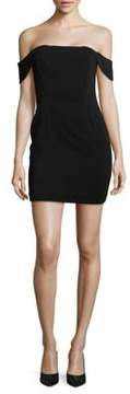 Jay Godfrey Lang Off the Shoulder Mini Sheath Dress