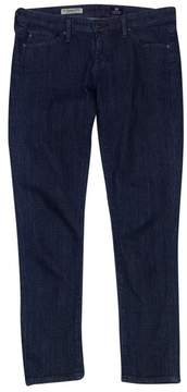 Adriano Goldschmied Blue & White Square Print Jeans