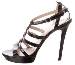 Versace Caged Patent Sandals