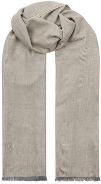 Eton Merino Wool Herringbone Scarf