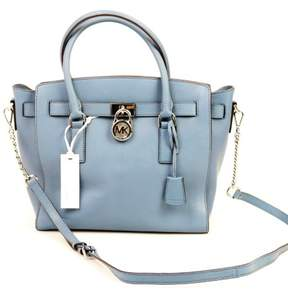Michael Kors Hamilton Denim Blue Large East West Satchel, $298 - BLUES - STYLE