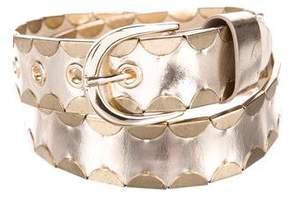 Diane von Furstenberg Leather Scallop-Trimmed Belt