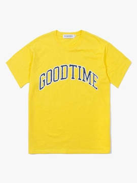 Have A Good Time Good Time College SS Tee Yellow
